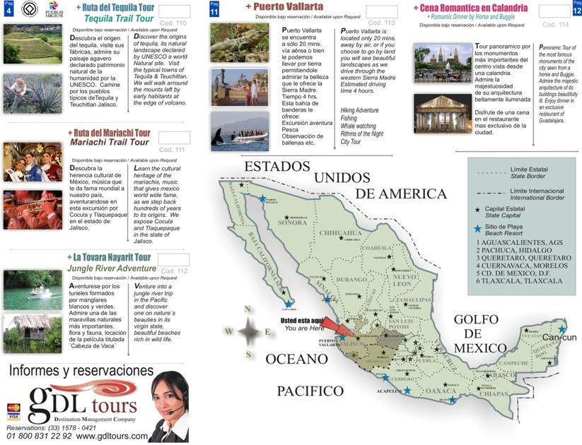 Mexico Map – Mexican Tourist Attractions Map