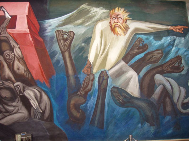 Detail or Quetzalcoatl by Jose Clemente Orozco